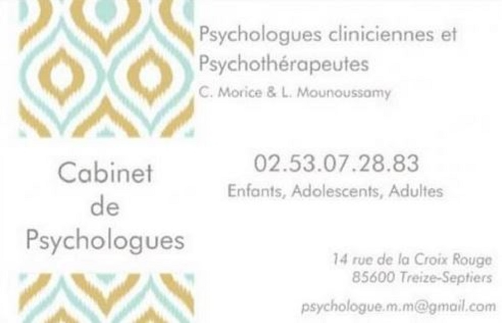 Cabinet de Psychologues Mounoussamy-Morice