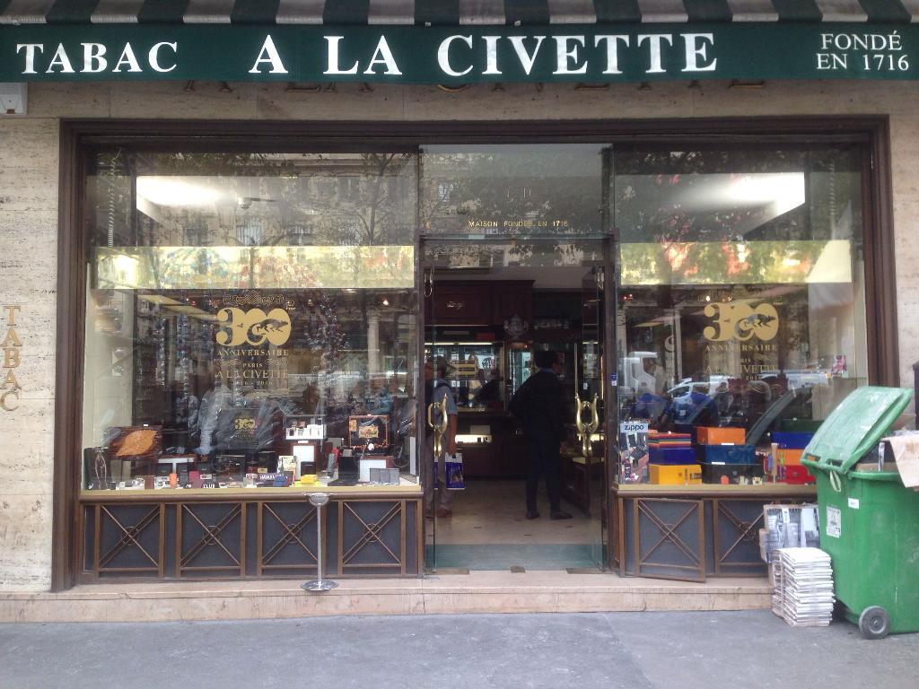 A la civette bureau de tabac rue saint honoré paris