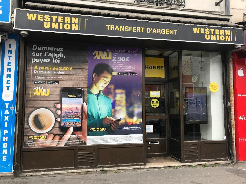 Agence western union aubervilliers bureau de change adresse