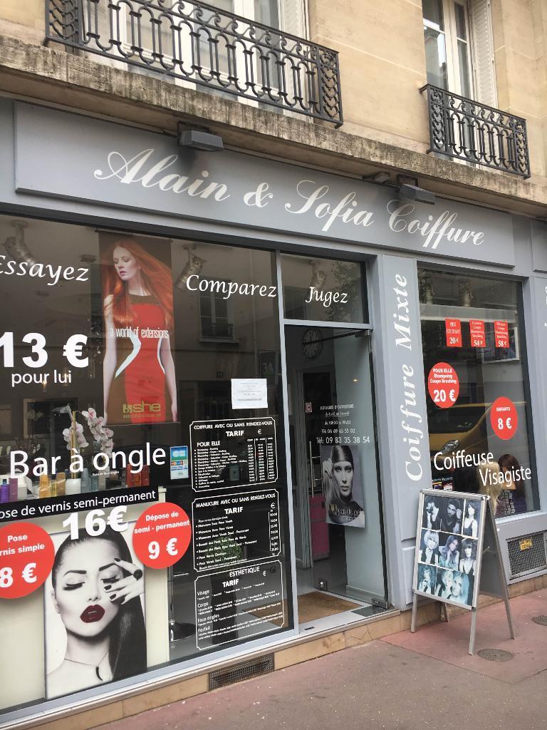 Alain et sofia coiffure coiffeur 33 rue rivay 92300 for Salon de coiffure levallois
