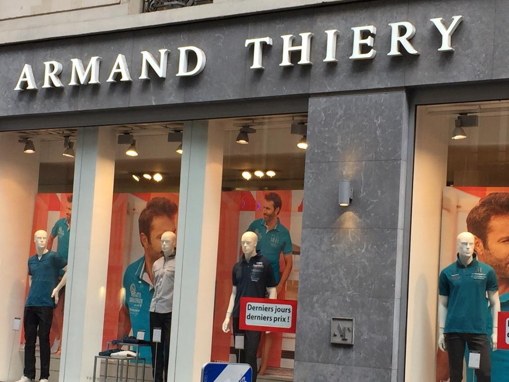 Armand Thiery - Vêtements homme, 15 rue Auber 75009 Paris - Adresse ... 2cb79f2e63b