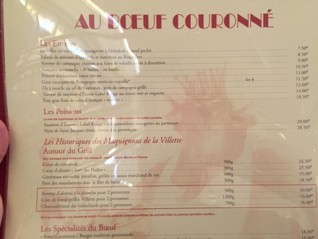 Au Boeuf Couronn U00e9