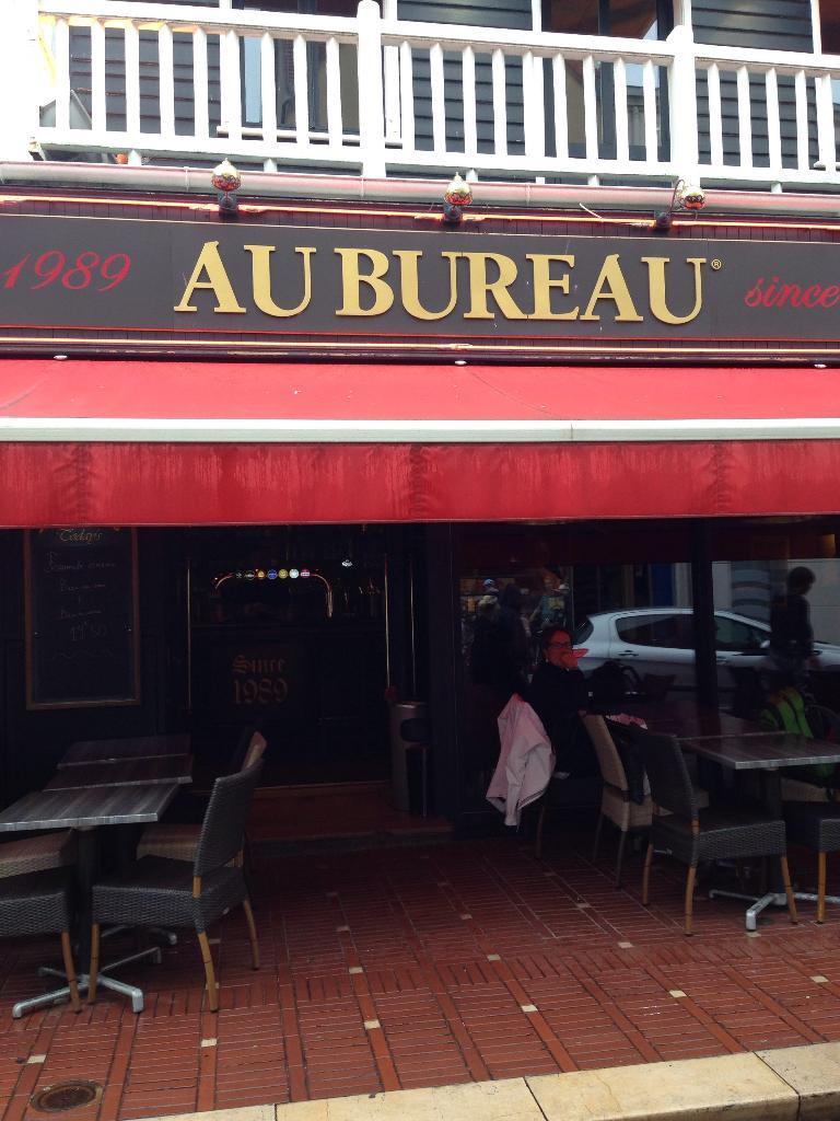 Au bureau le touquet paris plage café bar adresse horaires