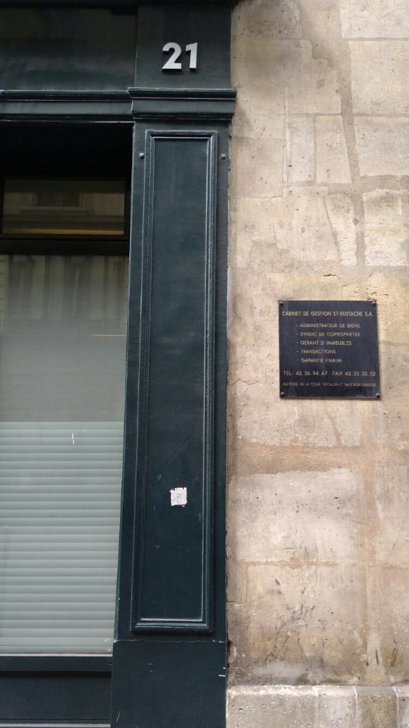Cabinet de gestion saint eustache syndic de copropri t s 21 rue du bouloi 75001 paris - Cabinet deslandes syndic ...