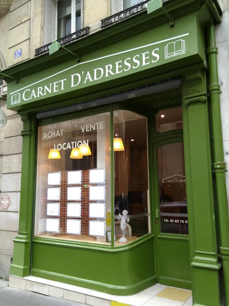 Carnet adresses agence immobili re 37 rue de chaillot for Agence immobiliere 37
