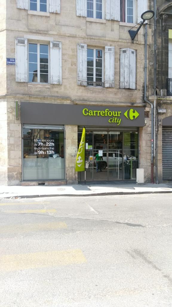 carrefour city supermarch hypermarch 104 rue fondaud ge 33000 bordeaux adresse horaire. Black Bedroom Furniture Sets. Home Design Ideas