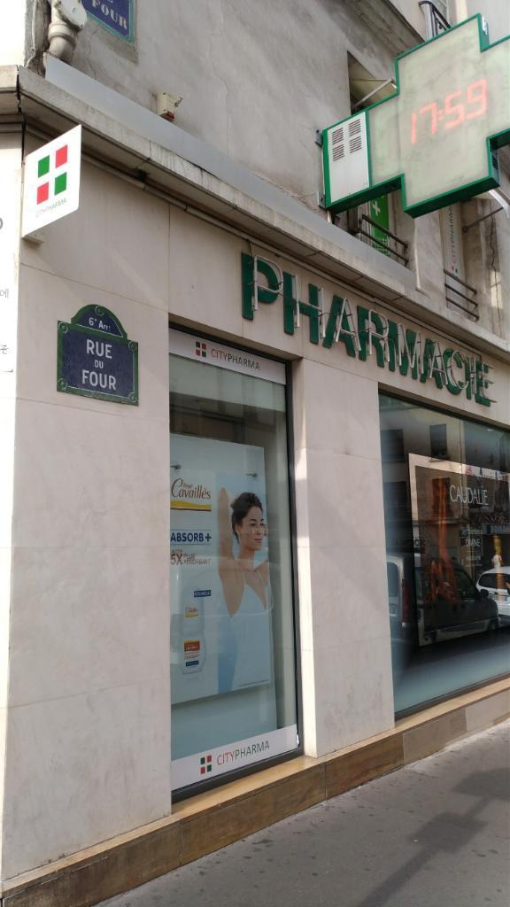 citypharma pharmacie 26 rue du four 75006 paris adresse horaire. Black Bedroom Furniture Sets. Home Design Ideas