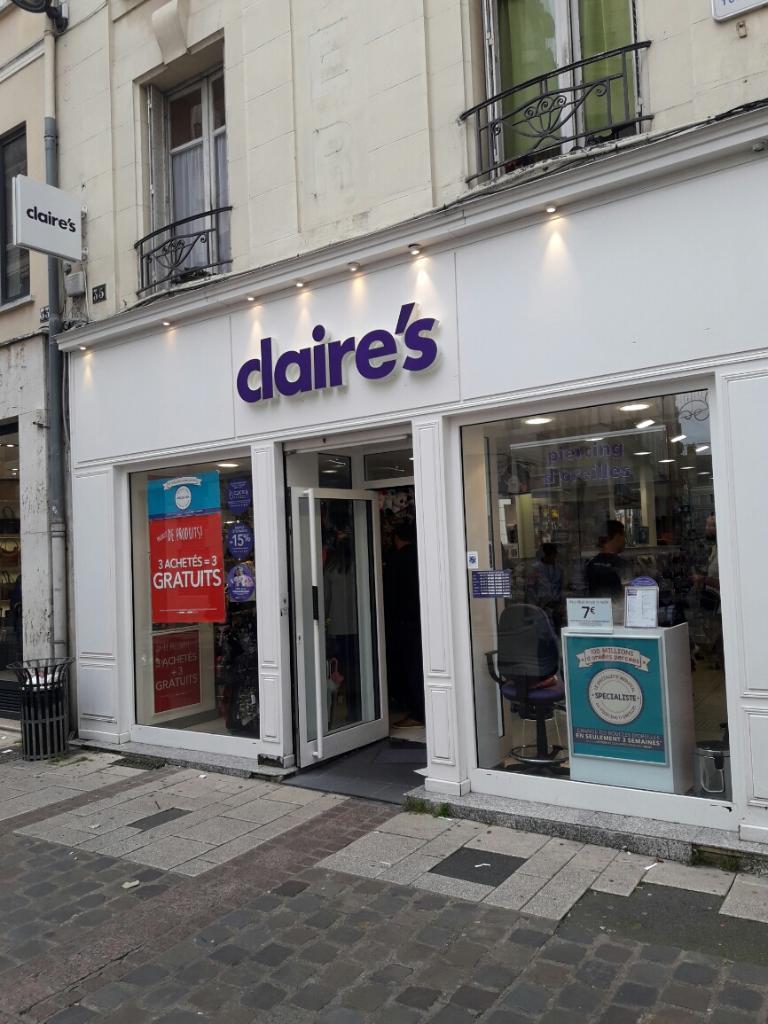 Claire 39 s france bijouterie fantaisie 35 rue tonnellerie - Horaire piscine chartres ...