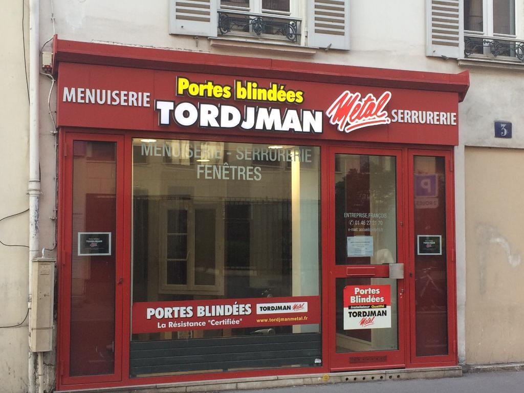 Entreprise François Entreprise De Menuiserie Rue De LAbbé - Porte placard coulissante jumelé avec portes blindées tordjman