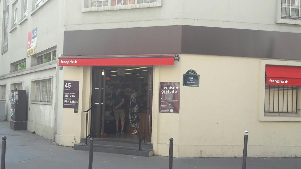 franprix paris supermarch hypermarch 45 rue des plantes 75014 paris adresse horaire. Black Bedroom Furniture Sets. Home Design Ideas