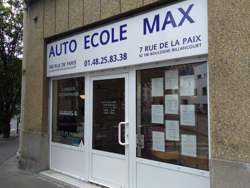 auto ecole max auto cole 146 rue de paris 92100 boulogne billancourt adresse horaire. Black Bedroom Furniture Sets. Home Design Ideas