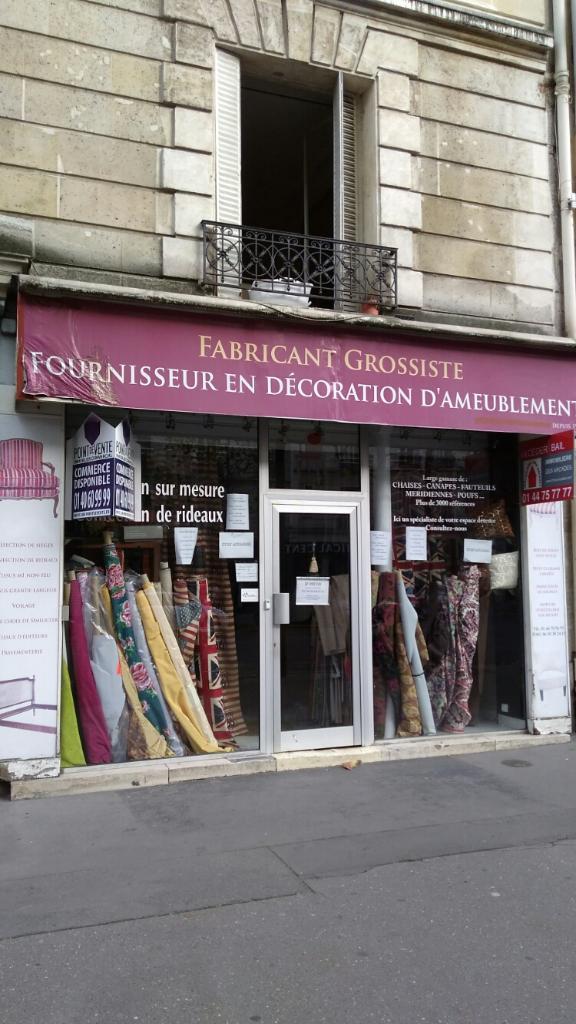 Jf d cor tapissier d corateur 20 rue lamblardie 75012 - Tapissier decorateur paris ...