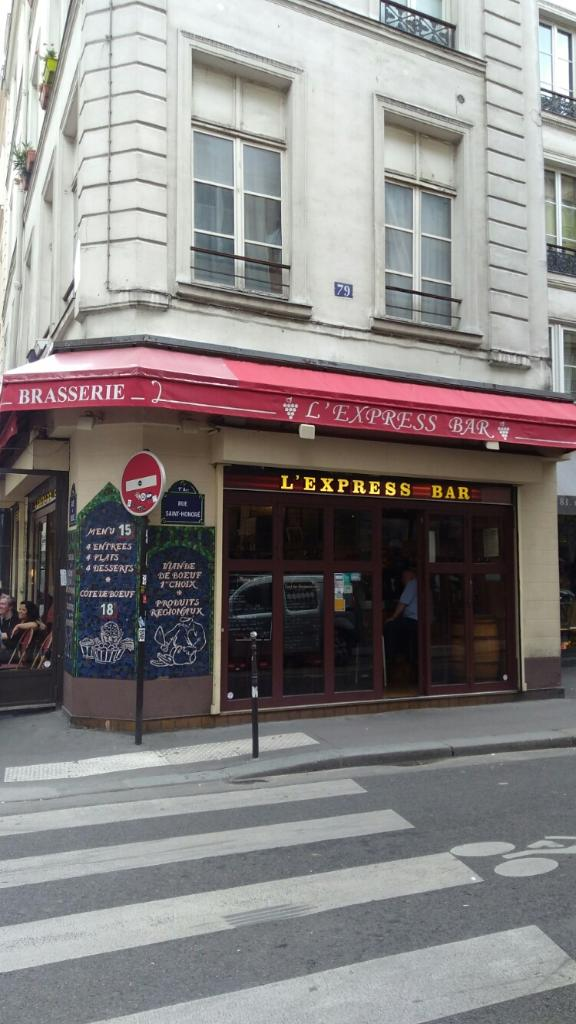 l express bar restaurant 23 rue du roule 75001 paris. Black Bedroom Furniture Sets. Home Design Ideas