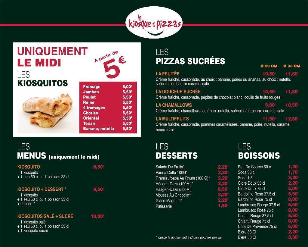 Carte Kiosque A Pizza.Le Kiosque A Pizzas 25 R Pasteur 77170 Brie Comte Robert