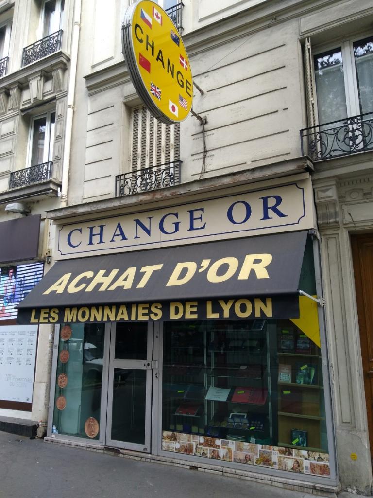 Les monnaies de lyon achat et vente d 39 or 6 rue de lyon 75012 paris adresse horaire - Bureau de change paris 8 ...