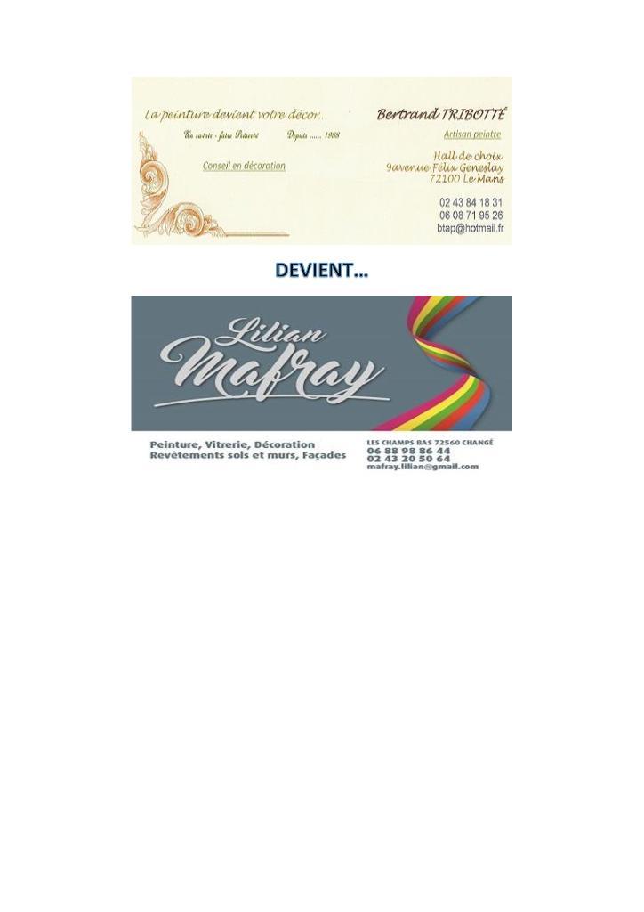 Mafray lilian entreprise de peinture champs bas 72560 chang adresse horaire - Bureau de change champs elysees horaires ...