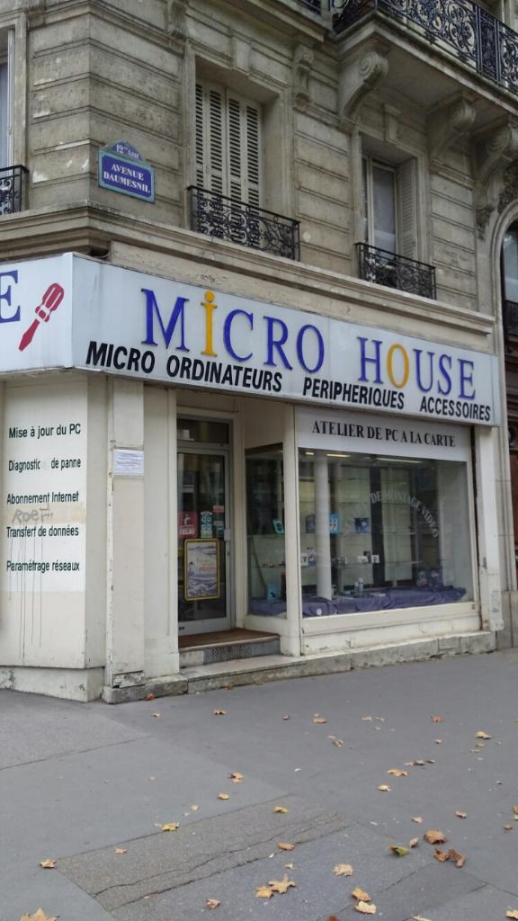 micro house d pannage informatique 146 avenue daumesnil 75012 paris adresse horaire. Black Bedroom Furniture Sets. Home Design Ideas