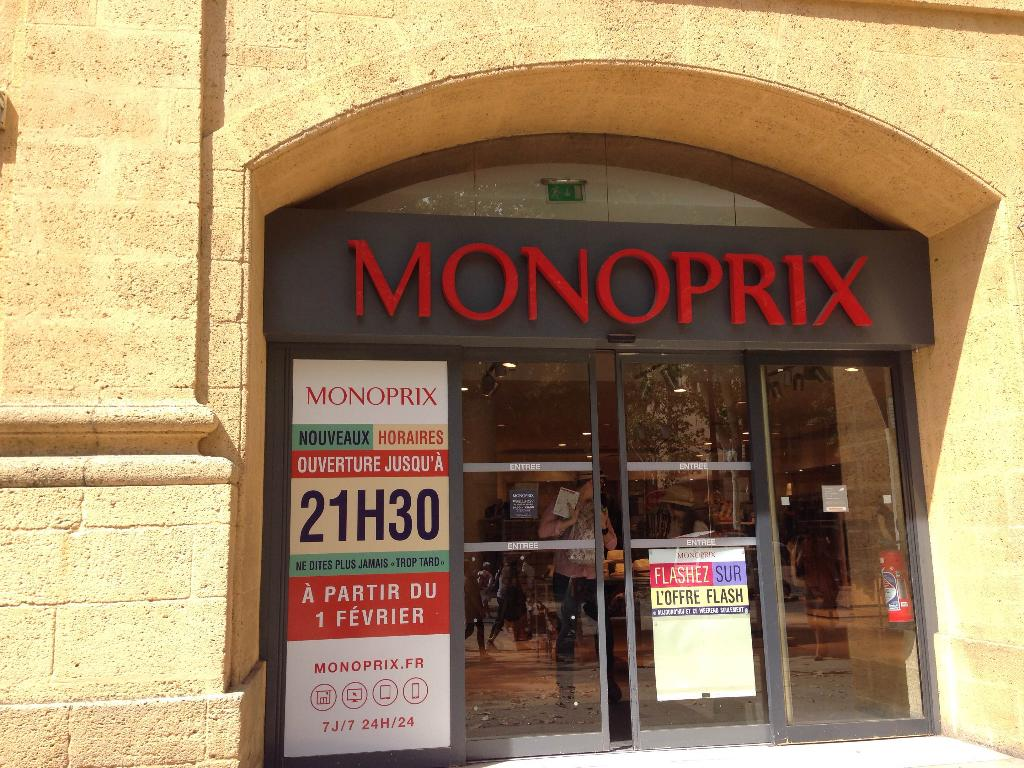 monoprix supermarch hypermarch 27 cours mirabeau 13080 aix en provence adresse horaire. Black Bedroom Furniture Sets. Home Design Ideas