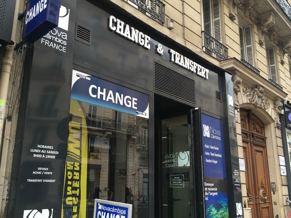 on bureau de change auber
