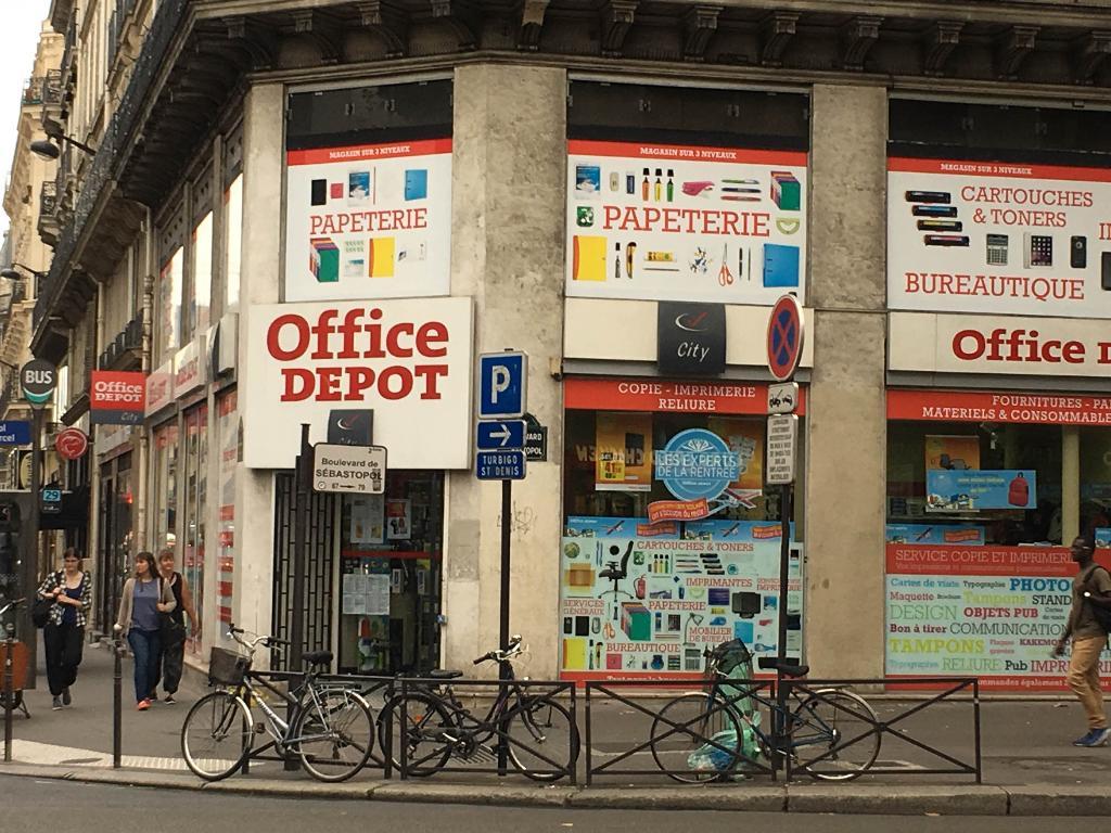 Office depot city paris 2 me s bastopol restaurant 67 for Depot adresse