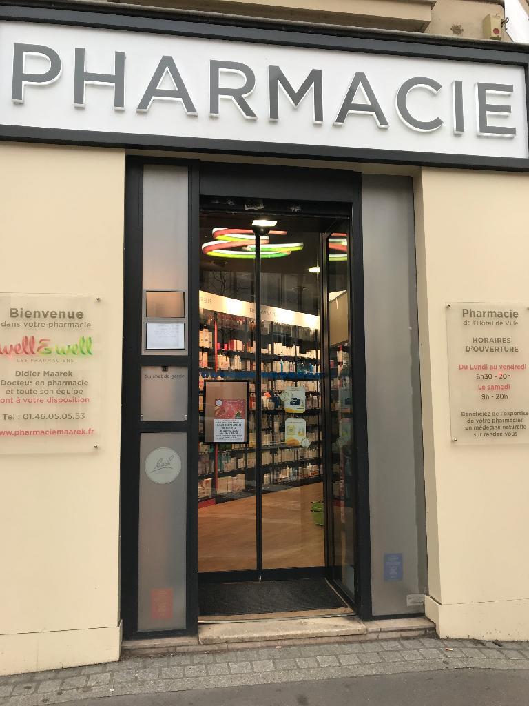 Pharmacie de l 39 h tel de ville well well pharmacie 128 for Pharmacie de la piscine