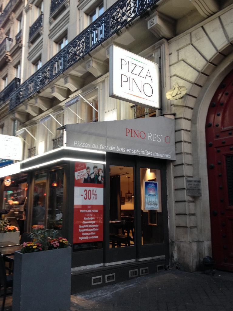 pizza pino restaurant 27 boulevard des italiens 75002 paris adresse horaire. Black Bedroom Furniture Sets. Home Design Ideas