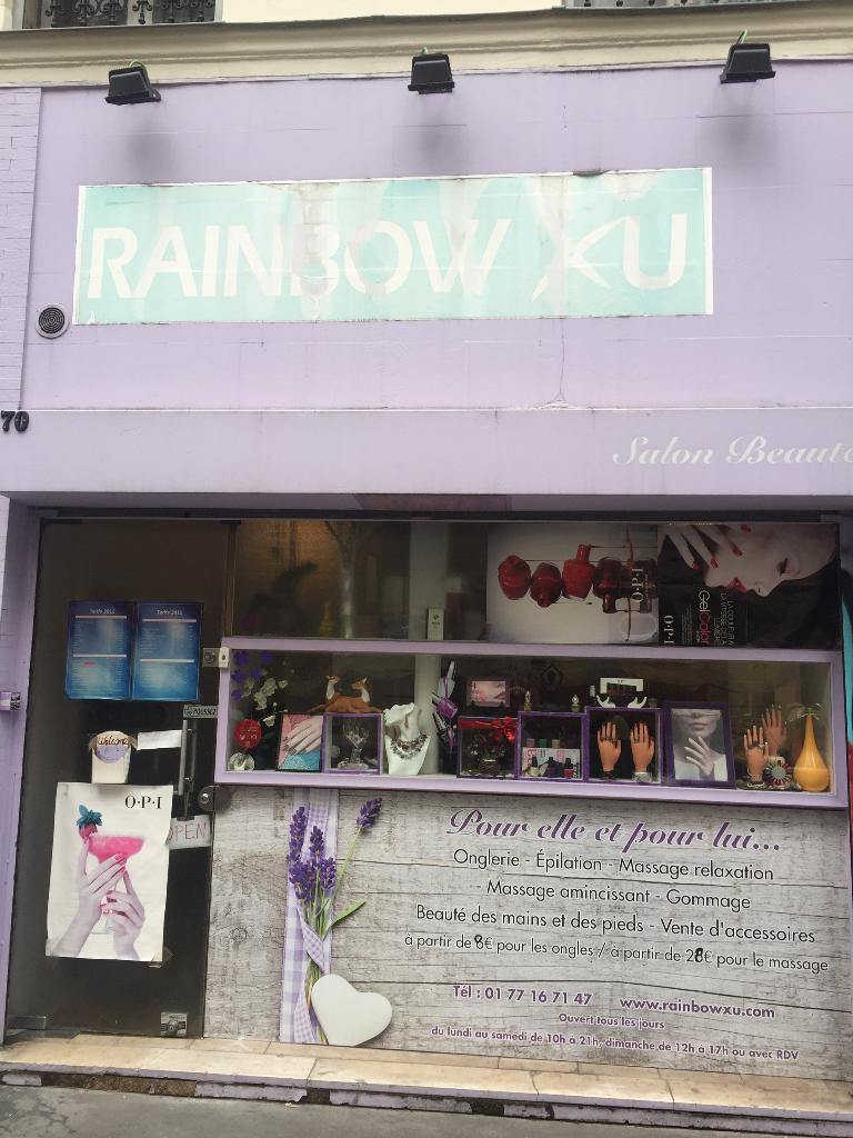 Rainbow xu institut de beaut 70 rue folie m ricourt for Garage oberkampf parking