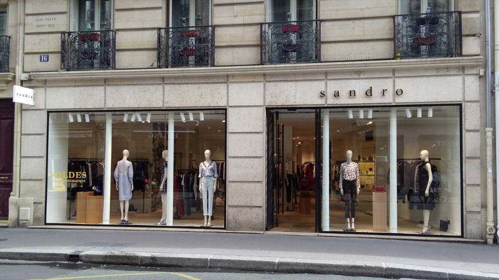 Sandro france v tements femme 16 rue du vieux colombier for Blue garage rue de rennes