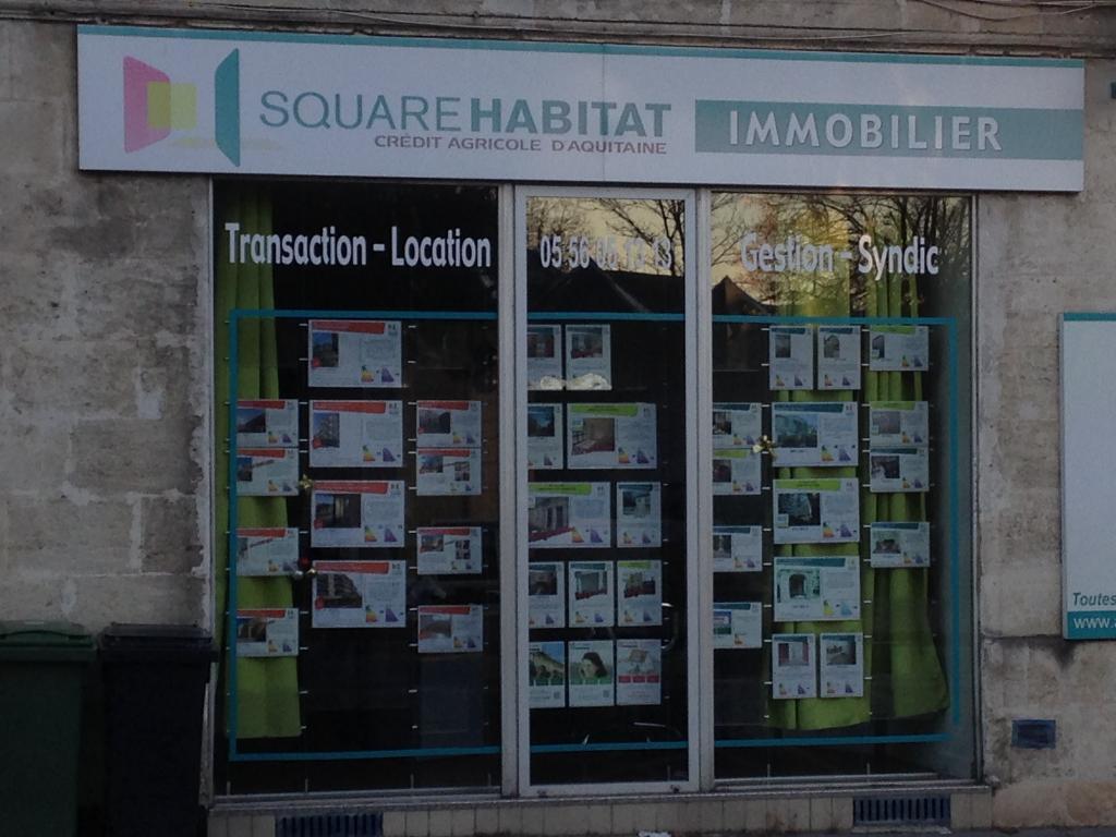 Square habitat caud ran banque 1 avenue du g n ral for Agence immobiliere bordeaux cauderan