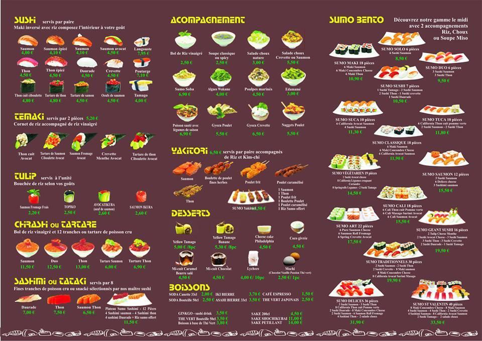Carte salon de provence the best cart for Sushi salon de provence