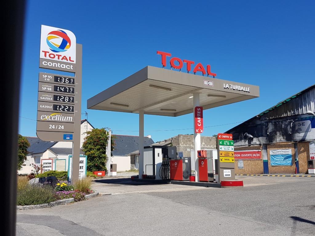 Total station service 20 rue fr gate 44420 la turballe for Garage total ozoir la ferriere