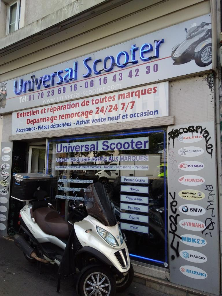 universal scooter vente et r paration de motos et scooters 151 boulevard de charonne 75011. Black Bedroom Furniture Sets. Home Design Ideas