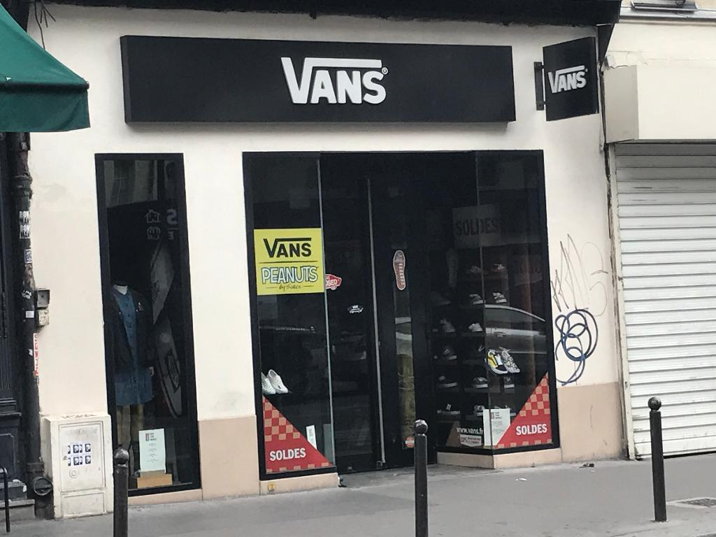 vans magasin paris